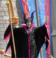 "Maleficent in the Magic Kingdom Castle Court stage show ~ from the article ""What would I do with three hours alone in Walt Disney World?"""