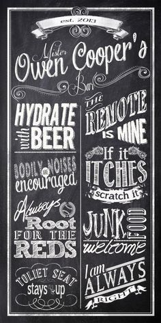 Personalized Bar Rules  Man Cave Custom by InvitingMoments on Etsy, $15.00