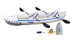 Find Sea Eagle 370 Pro 3 Person Inflatable Portable Sport Kayak Canoe Boat w/ Paddles online. Shop the latest collection of Sea Eagle 370 Pro 3 Person Inflatable Portable Sport Kayak Canoe Boat w/ Paddles from the popular stores - all in one Inflatable Fishing Kayak, Best Fishing Kayak, Inflatable Boats, Kayak Camping, Fishing Boats, White Water Kayak, Kayak Seats, Ocean Kayak, Canoe Boat