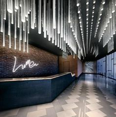 Just love those amazing ideas for an hotel lobby! Such a unique lighting!