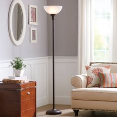 "Better Homes and Gardens 71"" Torchiere Floor Lamp - Walmart.com"