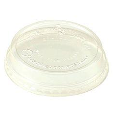 Portion Cup LIDS, 4 oz CLEAR Flat Portion Cups Lids