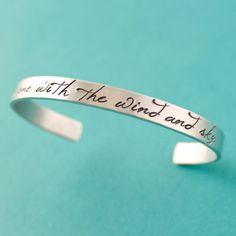I Am One With The Wind And Sky Cuff Bracelet - Frozen Inspired Bracelet - Disney on Etsy, $18.00