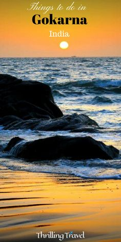 A Travel Guide to discovering Gokarna, a beach along the same coast as Goa. Here are 10 things that you can do while in Gokarna, Karnataka, India Asia India Karnataka Gokarna Beaches Travel ThrillingTravel TravelGuide 304767099784299273 Hampi, Mysore, Travel Destinations Beach, Places To Travel, Beach Travel, Holiday Destinations, Tourist Places, Ursula, India Travel Guide