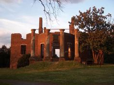 The ruins at Barboursville Winery in Virginia