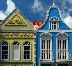 — Aruba's colorful buildings