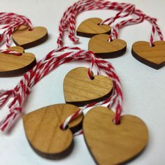 SALE super cute (3x3-pack)  Scandi inspired X-Mas hearts in sustainable alder wood. $10 and FREE shipping in Australia ($5 worldwide) Click on profile in IG bio to go to our Facebook shop) #sale #christmasdecorations #xmas #scandi #christmas #hearts #sistainable wood