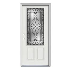 Stanley Doors 36 In X 80 In Art Deco 3 4 Lite 1 Panel