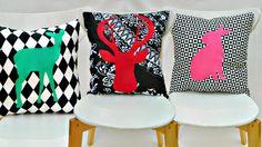 DIY: graphic animal silhouette pillows