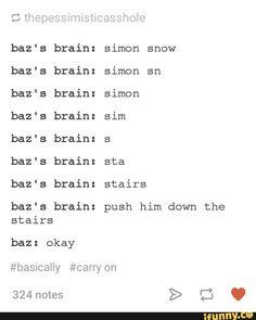 rainbowrowell, carryon, snowbaz, simonsnow, bazpitch