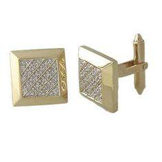 14k Yellow Gold Diamond Cufflinks 0 20 CTW | eBay $1,250 #SeaofDiamonds #SOD…