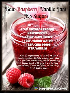 Clean Raspberry Jam NO SUGAR