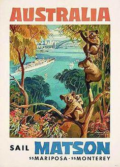 Australia Australian Sail Matson Ship Vintage Travel Advertisement Art Poster for Like the Australia Australian Sail Matson Ship Vintage Travel Advertisement Art Poster ? Vintage Advertisements, Vintage Ads, A4 Poster, Poster Prints, Poster Wall, Posters Australia, Australian Vintage, Art Graphique, Vintage Travel Posters
