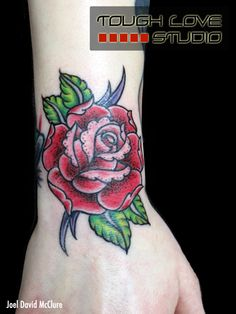 Rose Wrist Tattoo | Joel David McClure | Tough Love Studio