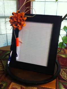 Easy dry erase frame. Made it for a gift in less than 10 mins. Gift for under $10.