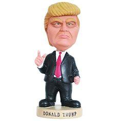 Donald Trump Scowling Bobblehead, Humorous Celebrity Statue