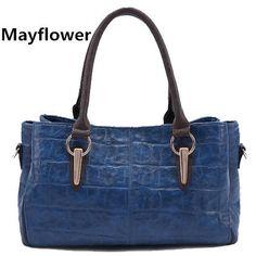 New 2014 fashion famous brand oil wax leather bags 100% genuine leather women handbags big classic shoulder women messenger bags $29.99