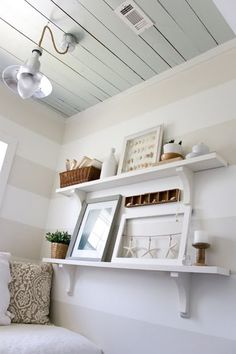 DIY Shelves with wood and corbels from Home Depot tracie0328