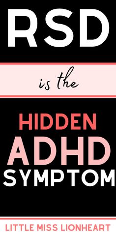 Rejection Sensitive Dysphoria is an ADHD symptom that most of us struggle with, but it's not even in the diagnostic criteria! Crazy right? Because of that, alot of ADHD adults and ADHD kids don't realize that their struggle with overwhelming emotions and sensitivity to criticism is totally an ADHD struggle. Here's what it is and what to do about it.  #ADHD #ADHDadult #ADHDWomen #ADHDsolutions #ADHDsymptoms Adhd Facts, Adhd Help, Adhd Brain, Adhd Diet, Adhd Strategies, Adhd Symptoms, Adhd And Autism, Adult Adhd, Mental And Emotional Health