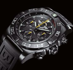 Chronomat GMT Breitling Jet Team American Tour  eBay: $6,500.00   http://www.authenticwatches.com/breitling-chronomat-44-blacksteel-mb01109l-bd48-.html#.WaGVU9MrK-o