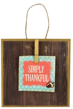 Simply Thankful Tile - Click through to see project instructions