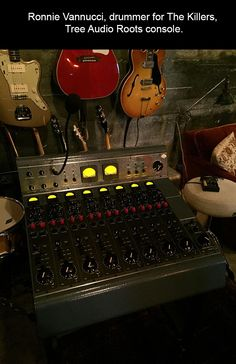 Ronnie Vannucci's (drummer for The Killers) Tree Audio Roots console. #Tubes #ProAudio #Recording