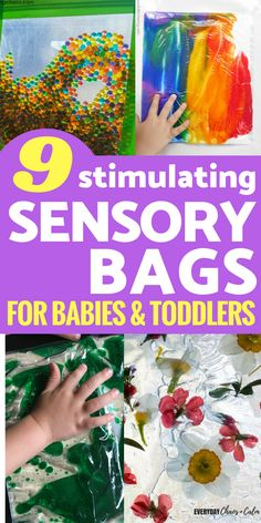 Sensory bags are a great way to provide safe, mess free fun for toddlers and babies. Here are 9 easy sensory bags to make for your young kids. Activities For Babies Under One, Young Toddler Activities, Baby Learning Activities, Kids Activities At Home, Sensory Activities Toddlers, Toddler Fun, Infant Activities, Toddler Games, Preschool Learning