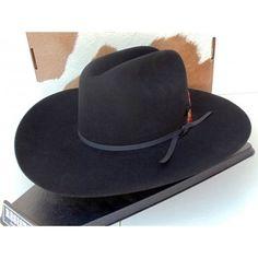 65b59423fe9 Resistol Cowboy Hat 4X Beaver Fur Felt Black Qualifier
