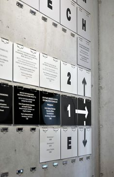 SimTech lab signage, designed by German office L2M3 Kommunikation Design  wayfinding environmental design signage