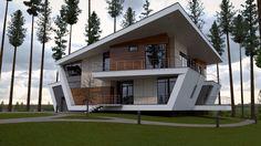 Exterior Architecture by Marcus Pinto Villa Design, Duplex Design, Modern Tiny House, Modern House Design, Architecture Plan, Amazing Architecture, House Outside Design, Model House Plan, Modern Contemporary Homes