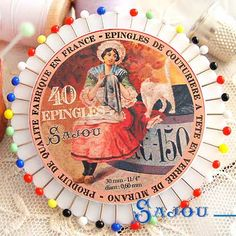 フランス SAJOU カラフルガラスビーズ まち針セット【PINS-6 】 - フランス雑貨・輸入雑貨『Zakka MiniMini』http://zakka-minimini.com/?pid=36868675