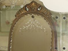 Stunning LARGE Antique Victorian Etched & by VintagetownUSA