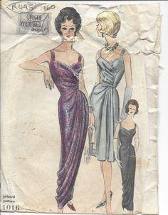 "1960s Vintage VOGUE Sewing Pattern DRESS B32"" (R495) | eBay"