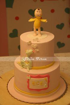 kewpie doll birthday cake, first birthday cake, ilk yaş pastası, butik pasta, kewpie bebeği