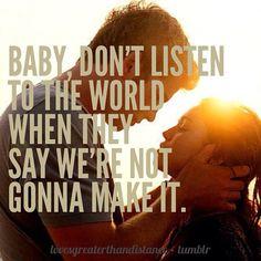 Don't listen to negativity.. True love conquers all❤️ True love never fails ❤️⚓️
