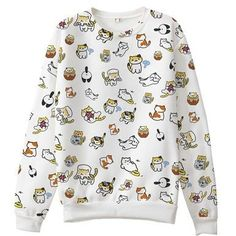 This incredible all-over print sweatshirt ($25) | 19 Ridiculously Cute Gifts For Cat Collectors