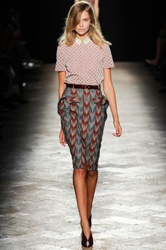 groovy prim and proper Marco de Vincenzo Spring 2014 Ready-to-Wear Collection Slideshow on Style.com