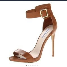 Steve Madden heels Worn two times in great condition. Cognac color. Steve Madden Shoes Heels