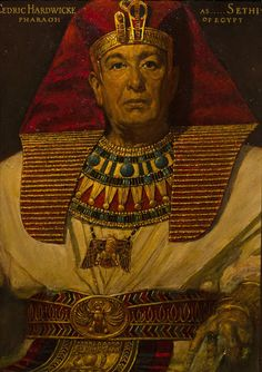 Cedric Hardwicke as the Pharaoh Seti. Muddy Colors: A Life in Art - Arnold Friberg, Ancient Egyptian Costume, Ancient Egypt Art, Egyptian Art, Egyptian Mythology, Egypt Concept Art, Egyptian Kings And Queens, Afrique Art, Prince Of Egypt, Old Movie Stars