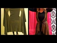 Red Poncho Scarves - How to Make The Bina a Poncho - YouTube
