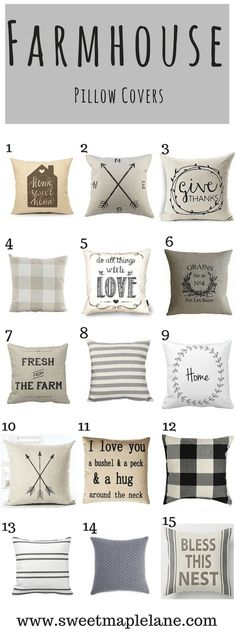 The ultimate roundup of farmhouse pillow covers!