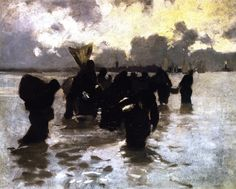 Oyster Gatherers Returning (also known as Mussel Gatherers)John Singer Sargent - circa 1877