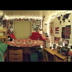 My dorm room! #college #dormlife