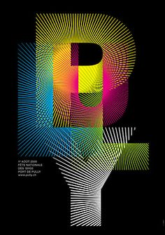 Pully Fireworks poster by Nicolas Zentner