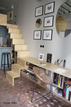 Tiny Loft Apartment Efficient Design Of A Tiny Apartment Loft In Nyc Idesignarch. Tiny Loft Apartment Compact Apartment Gets Efficient Airy Makeover I. Micro Apartment, Tiny Apartments, Paris Apartments, Dream Apartment, Tiny Spaces, Small Rooms, Apartment Layout, Studio Apartments, Open Spaces