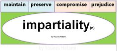 Some collocations with the word 'impartiality'.