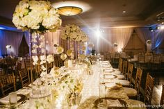 indian wedding reception table setting reception decor http://maharaniweddings.com/gallery/photo/4668