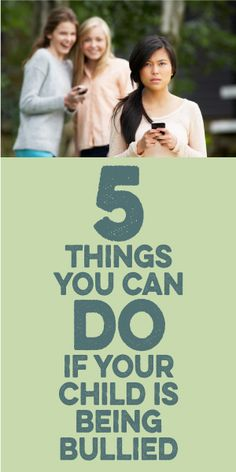 5 Things You Can Do If Your Child Is Being Bullied!