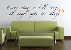 Bell Rings Angel Wings | Wall Decals - Trading Phrases