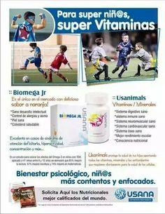 Completo suplemento a base de vitaminas, minerales y antioxidantes (usanimals).  Deliciosa ráfaga de ácidos grasos omega-3 para ayudar al crecimiento y desarrollo saludable (biomega jr)